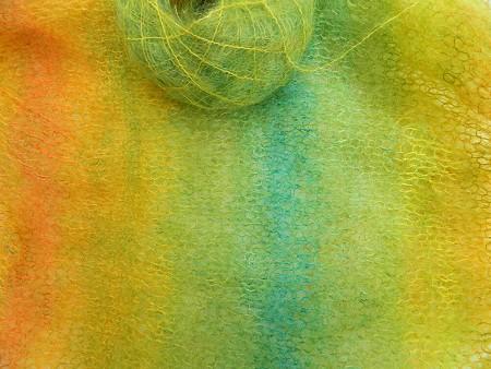 © die-maschen-zum-glueck.de KidMohair Frühling Gelb-Grün-Orange