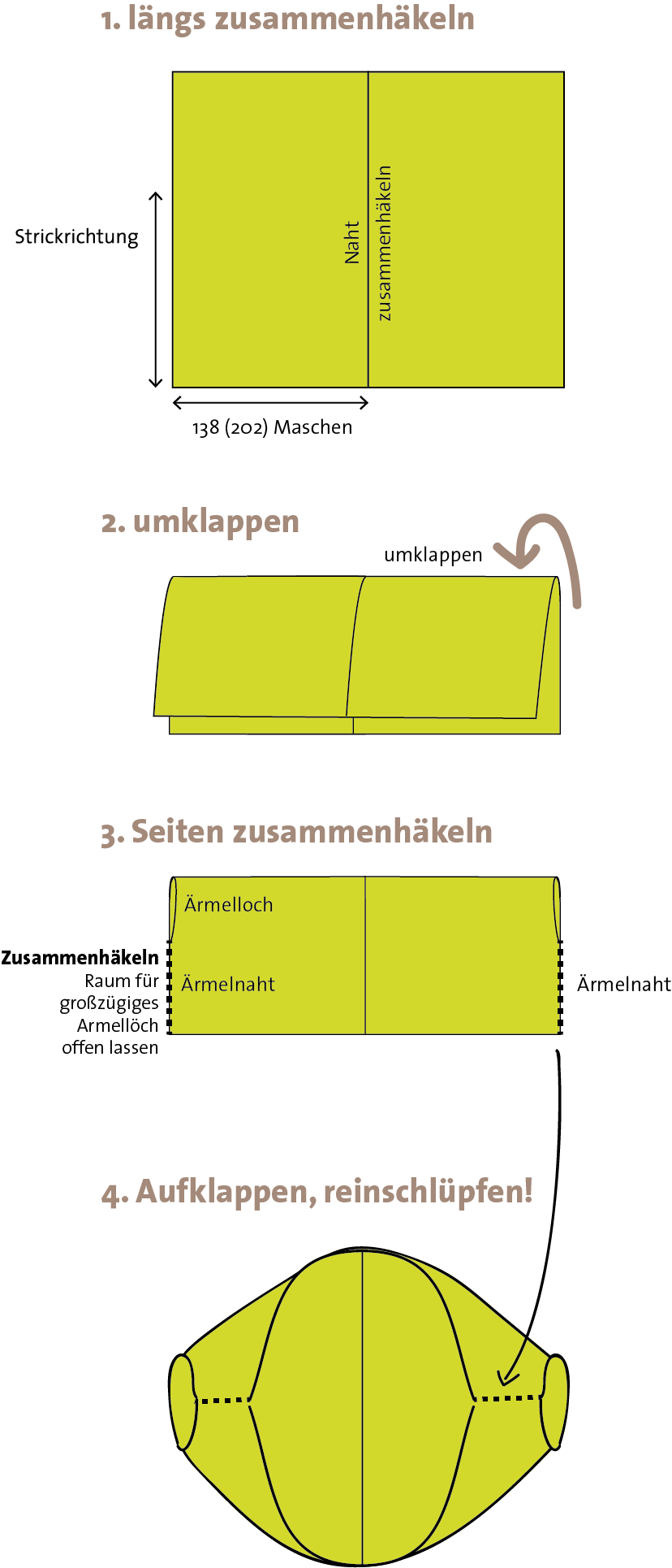 © Die Maschen zum Glück | Anleitung Seelenwärmer XL aus Zauberball 100 und KidMohair Extraklasse