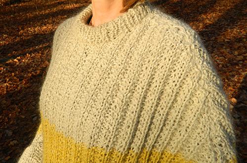 © Die Maschen zum Glück | Pullover oversized und handgestrickt Maschenbild