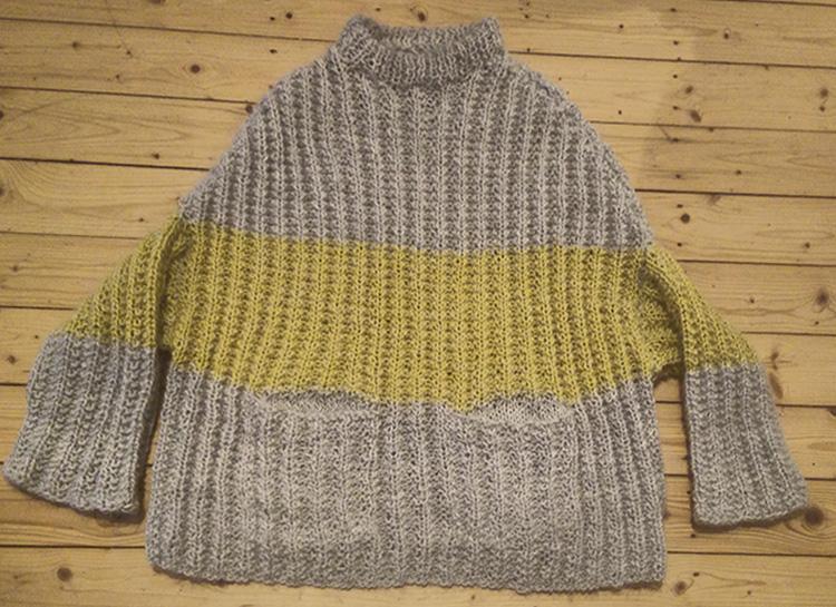© Die Maschen zum Glück | Pullover oversized und handgestrickt Schnitt
