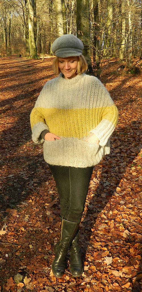 © Die Maschen zum Glück | Pullover oversized und handgestrickt Vollansicht