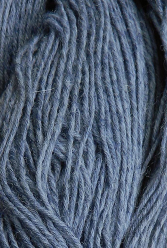 Hanf Natur Jeansblau Nahaufnahme